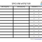 Spelling Word Fun - Rainbow Words and Consonants + Vowels