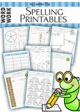 Spelling / Word Work - 17 printable worksheets