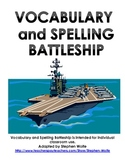 Spelling and Vocabulary Battleship