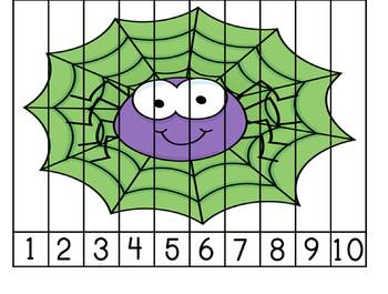 Spider Number Puzzle - FREEBIE