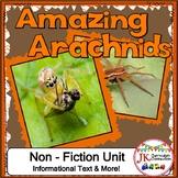 Spiders! Amazing Arachnids: Non-fiction Unit {CCSS}