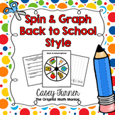 Spin & Graph: Back to School (Bar Graph, Tally Chart, Line