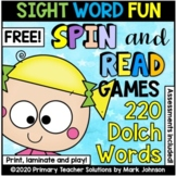 Spin-and-Read Quick Drill Cards for Practicing Dolch Sight Words