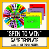 Spin to Win Game Template - For ALL ages and subjects!