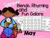 Spinner Word Work for May - Digraphs, Blends and Rhyming P