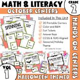 Spooktacular October Math and ELA Stations