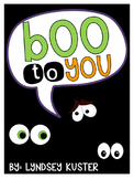 BOO to You!  {Activities and Crafts for October}