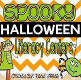 Spooky Halloween [8 Literacy Centers]