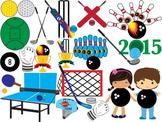 Sport Clip Art sporting goods ball glove cup field Goods b