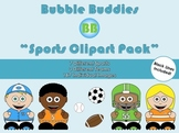 Sports Clipart: Bubble Buddies for Commercial and Personal Use