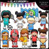 Sports Girls Clip Art - Sports Kids Clip Art - CU Clip Art