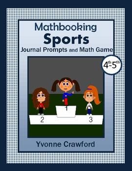 Math Journal Prompts Sports (4th & 5th grade)