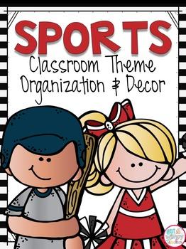 Sports Theme Classroom Kit 2 EDITABLE