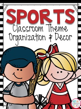 Sports Theme Classroom Kit 2 EDITABLE