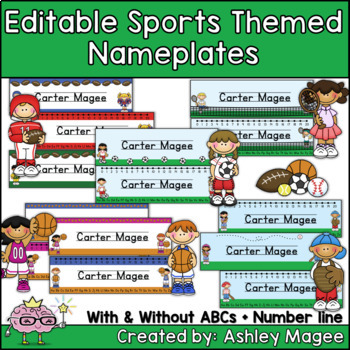Sports Themed Nameplate Deskplate Nametags