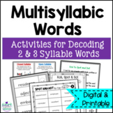 Spot and Dot- Low Prep Intervention for Multisyllabic Words