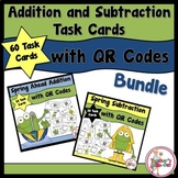 Spring Ahead Addition and Spring Subtraction Task Cards wi