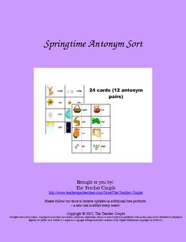 Spring Antonym Sort