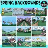 Spring Backgrounds Clip Art Bundle