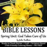 Spring Bible NO PREP Stories, Coloring, Craft, Religious L