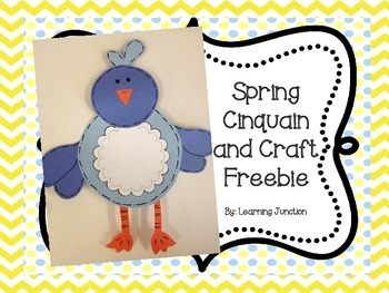 Spring Cinquain Poem and Craft Freebie