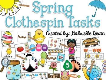 Spring Clothespin Tasks