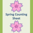 Spring Count and Write Counting Math Worksheet