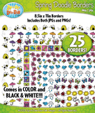 Spring Doodle Frame Borders Set  — Includes 25 Graphics!