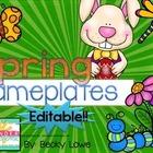 Spring Editable Nameplates