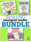 Spring Emergent Readers Bundle for Spring
