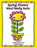 Spring Flowers - Word Family Sorts