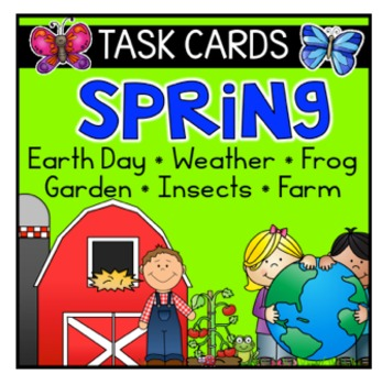 Teach 123's Fluency Task Cards:  Frogs, Butterfly, Plants, Ocean