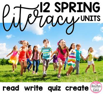 Spring Into Writing, Reading, Fluency, and Art Bundled Unit