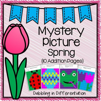 Spring Math Mystery Picture {9 Addition Pages}