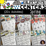 Spring Math and Literacy Centers for Kindergarten (Bundle)