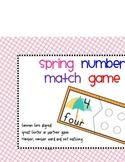 Spring Number to set matching game