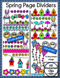 Spring Page Dividers - Clip Art