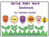 Spring Sight Word Sentences