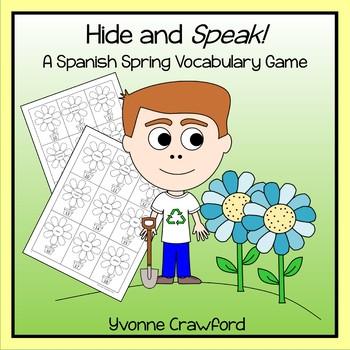 Spanish Spring Vocabulary - Hide and Speak Game