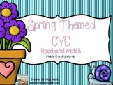 Spring Themed CVC Read and Match Middle O and U Words