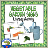 Spring Vegetable Garden Signs - Fun Literacy Activity