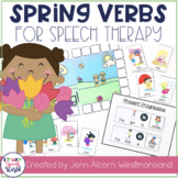Spring Verbs!  Grammar Activity for Speech Therapy