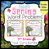 Spring Word Problems Task Card Bundle 3rd Grade Common Core