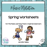 Spring Worksheets for the Music Learning Theory Inspired C