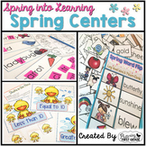 Spring Centers for Math and Literacy ~ Spring into First Grade