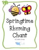 Springtime Rhyming Chant