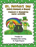 St. Patrick's Day Color, Shapes, and Number Center Activities