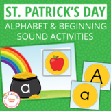 St. Patrick's Day ABC Match and Beginning Sound Sort for P