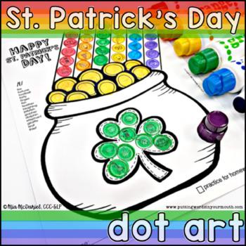 St. Patrick's Day Articulation Dot Art {No Prep!}