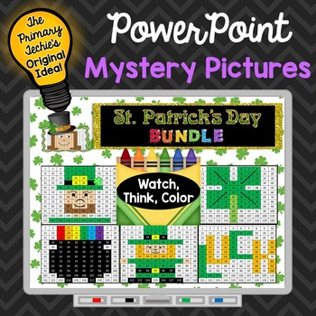 St. Patrick's Day Bundle Watch, Think, Color Games - EXPANDING BUNDLE